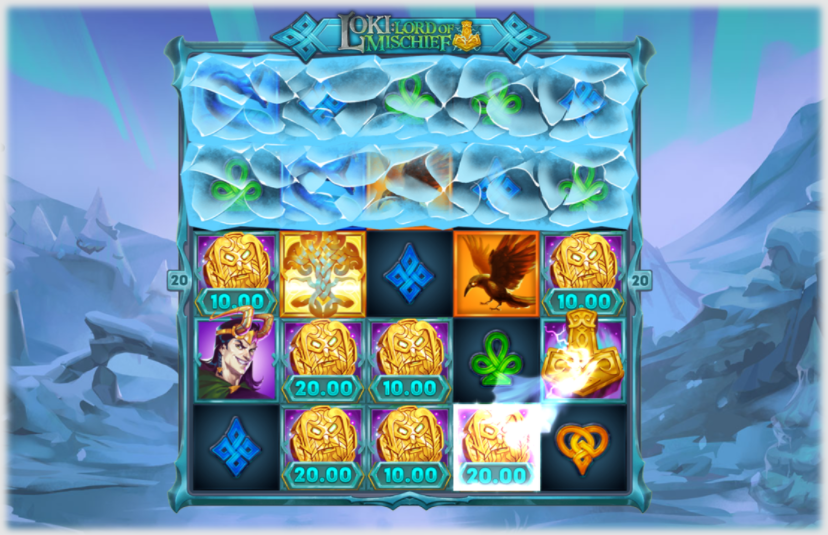 Loki Lord of Mischief Slot Playing Grid