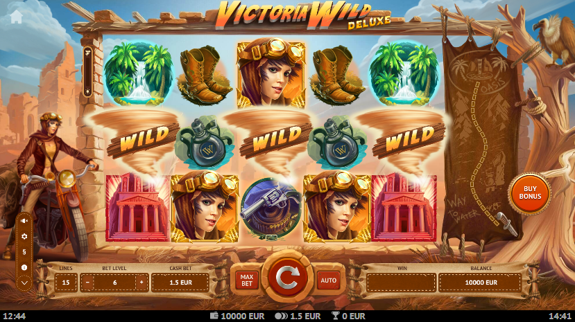 Victoria Wild Deluxe Slot Playing Grid