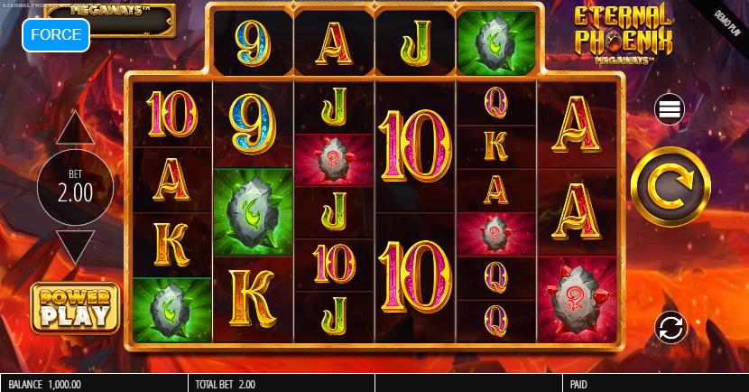 Eternal Phoenix Megaways Slot Playing Grid