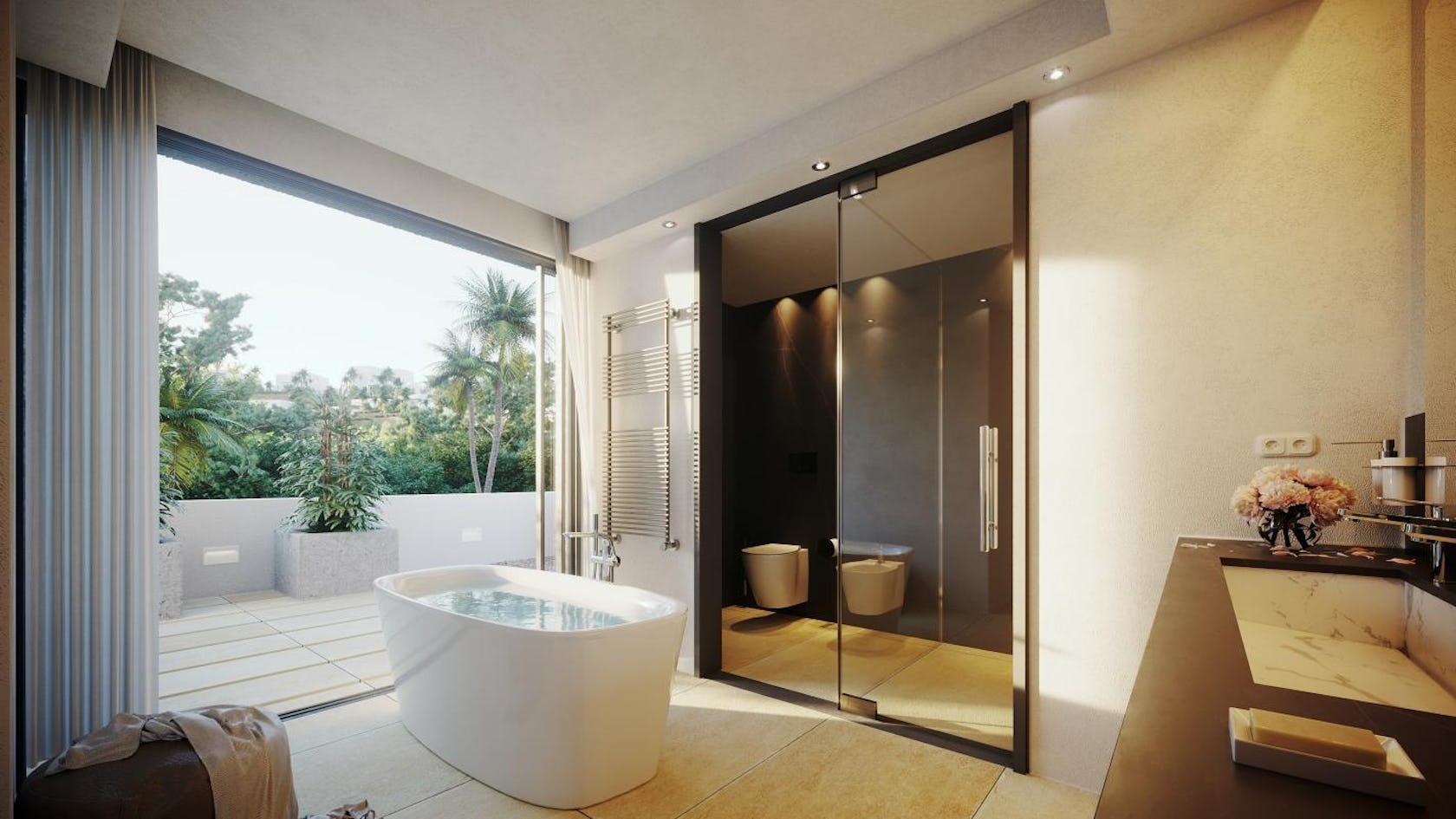 tub bathtub interior design indoors flooring room