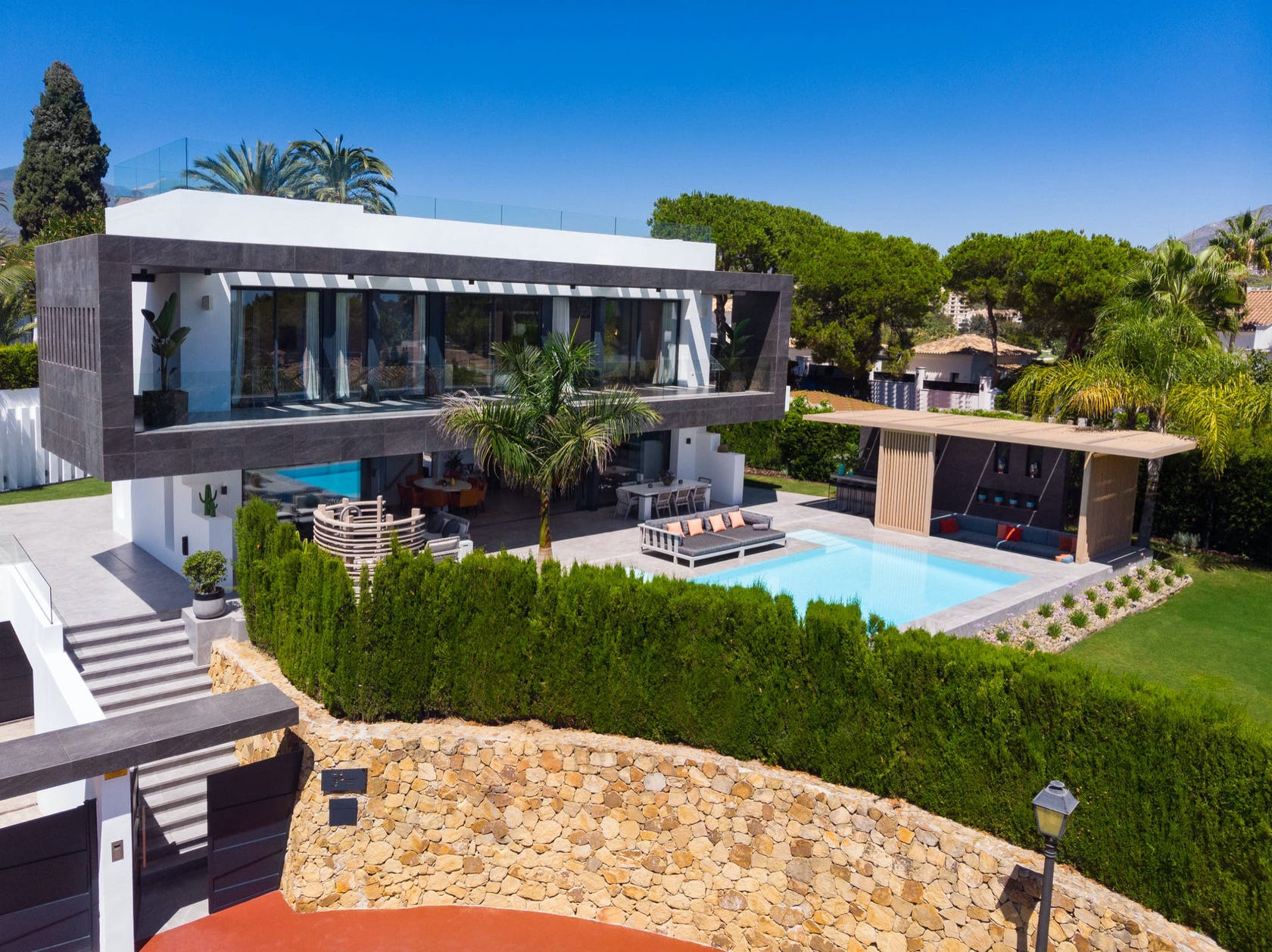 building villa house housing pool water outdoors hotel resort