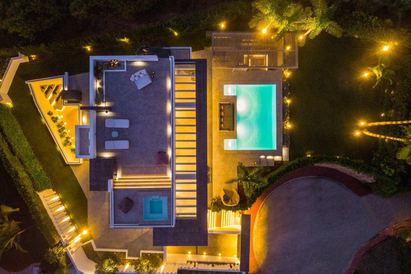 metropolis urban city town building lighting