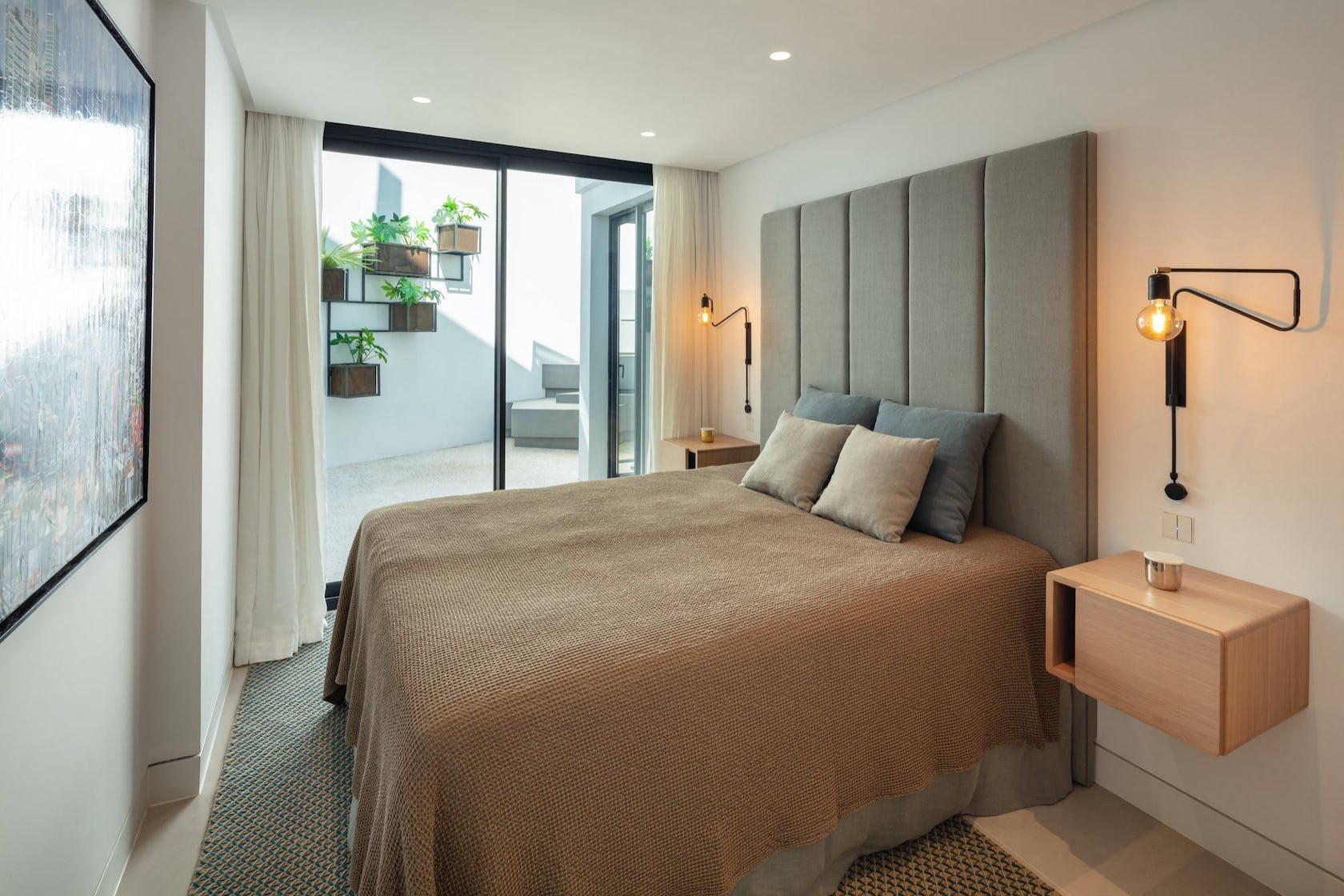 bedroom indoors room furniture bed