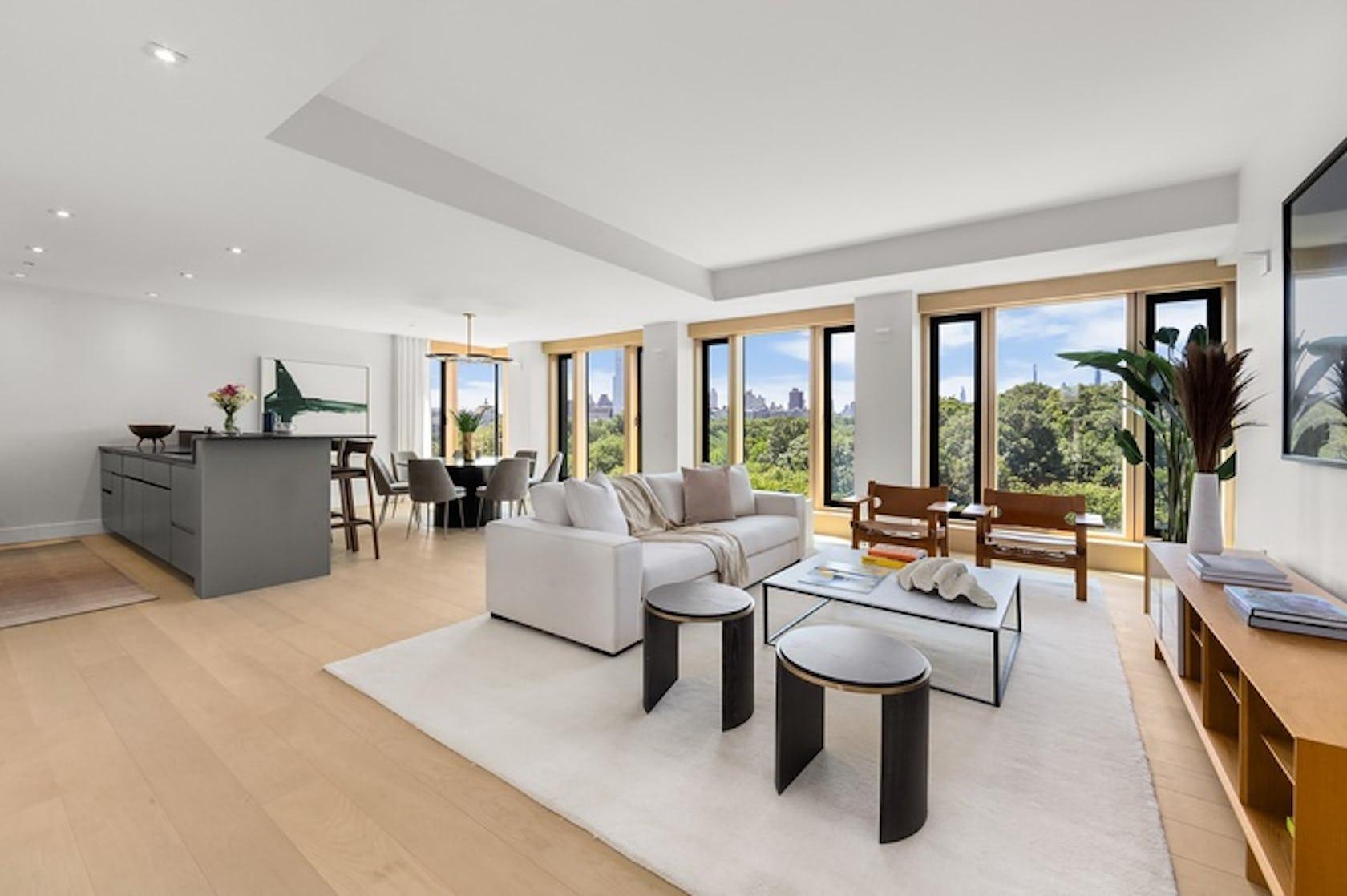 furniture indoors housing building interior design living room room table flooring coffee table