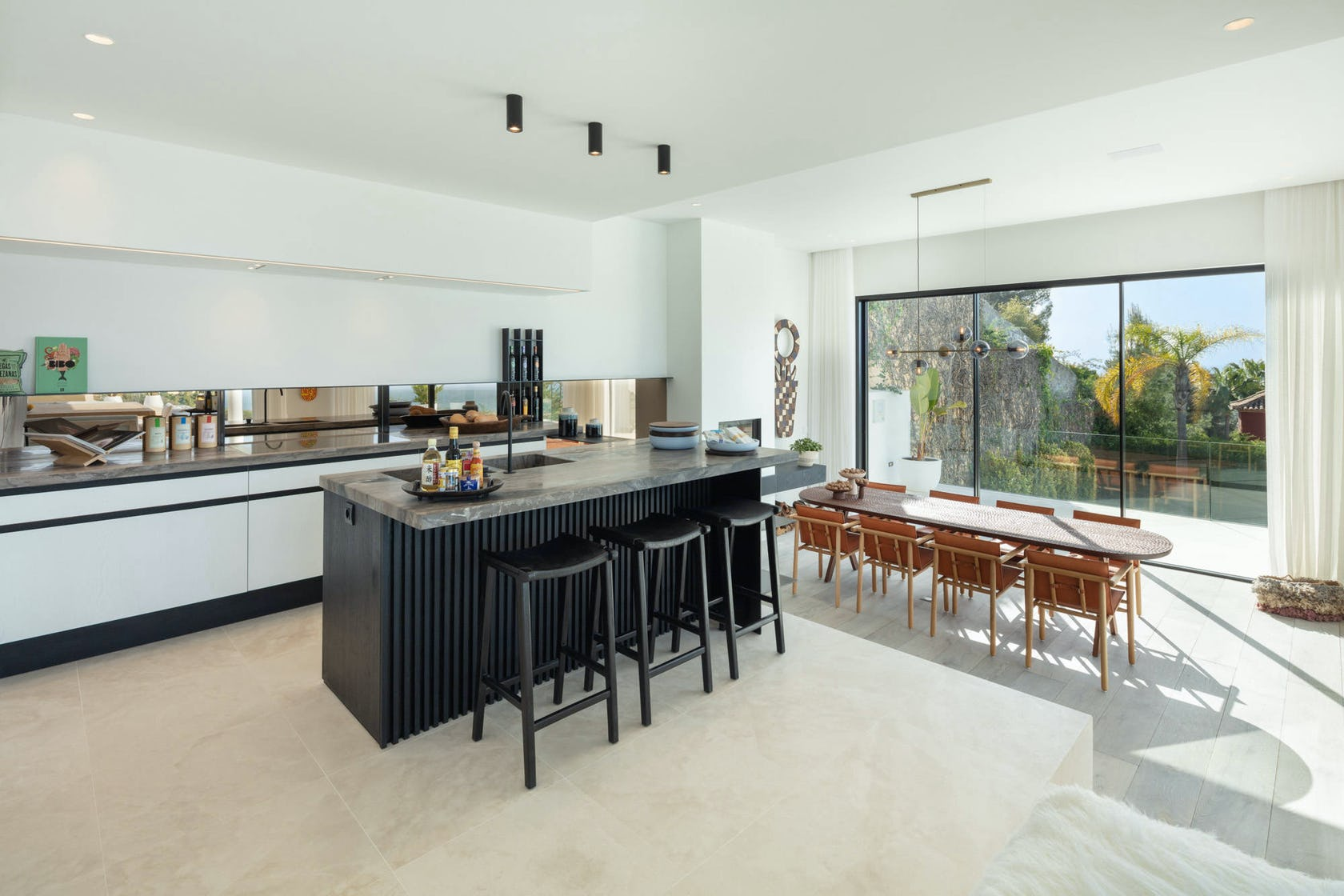 indoors room furniture interior design housing building chair kitchen island