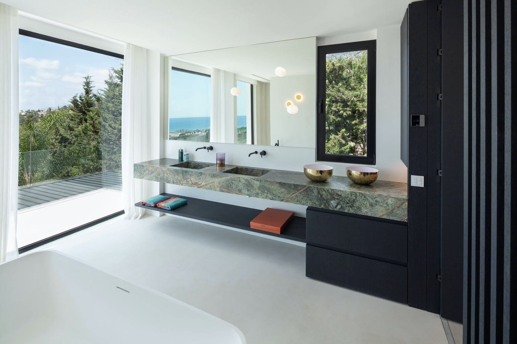 interior design indoors double sink