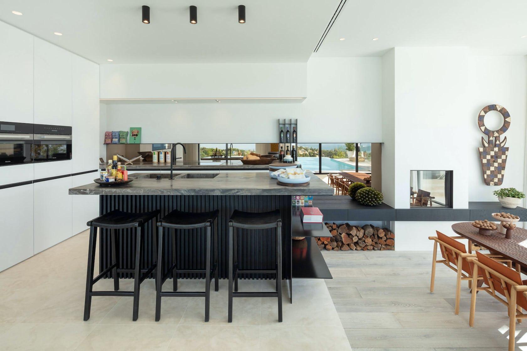 indoors room furniture kitchen island kitchen
