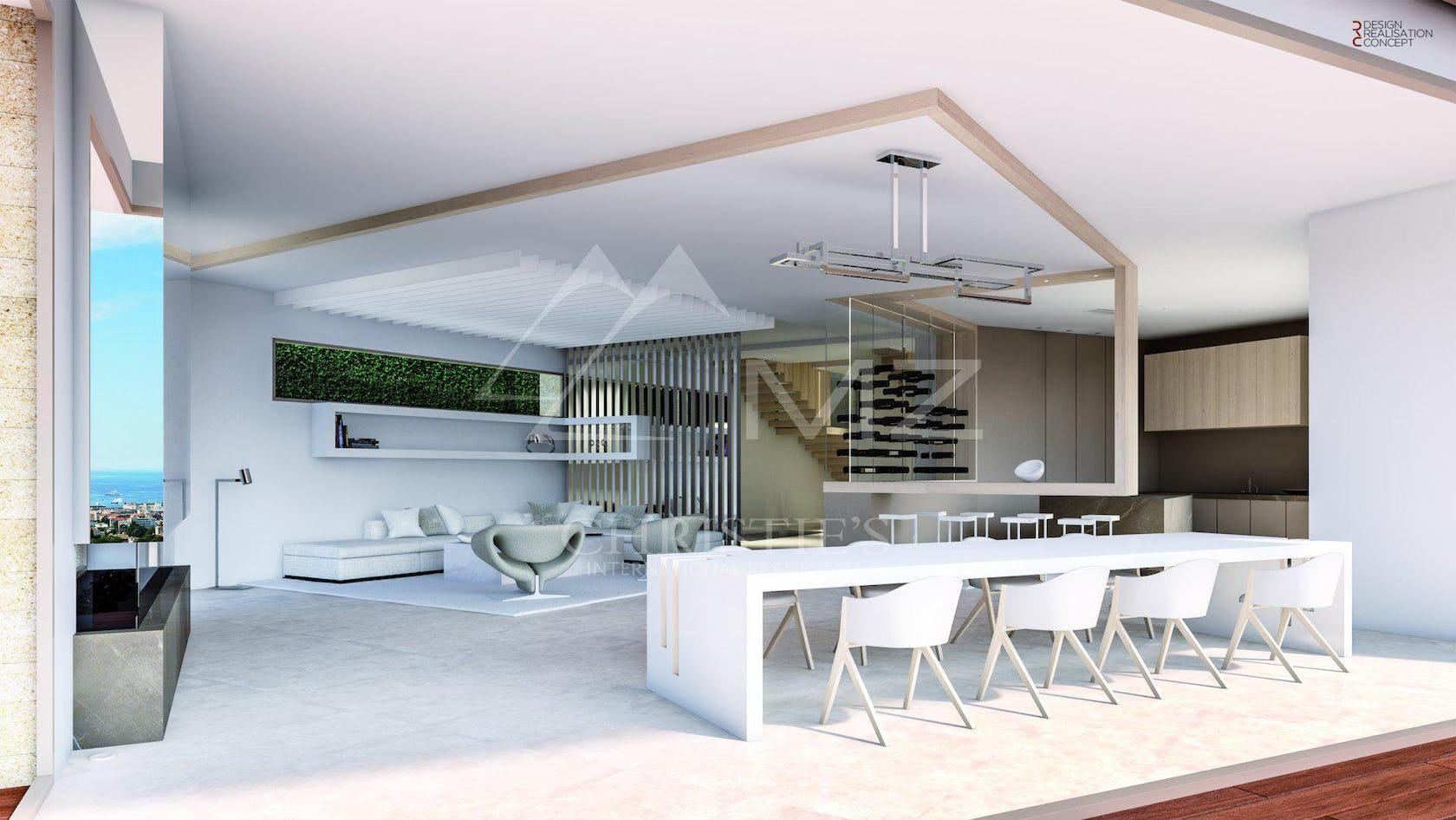 housing building chair furniture loft indoors interior design table