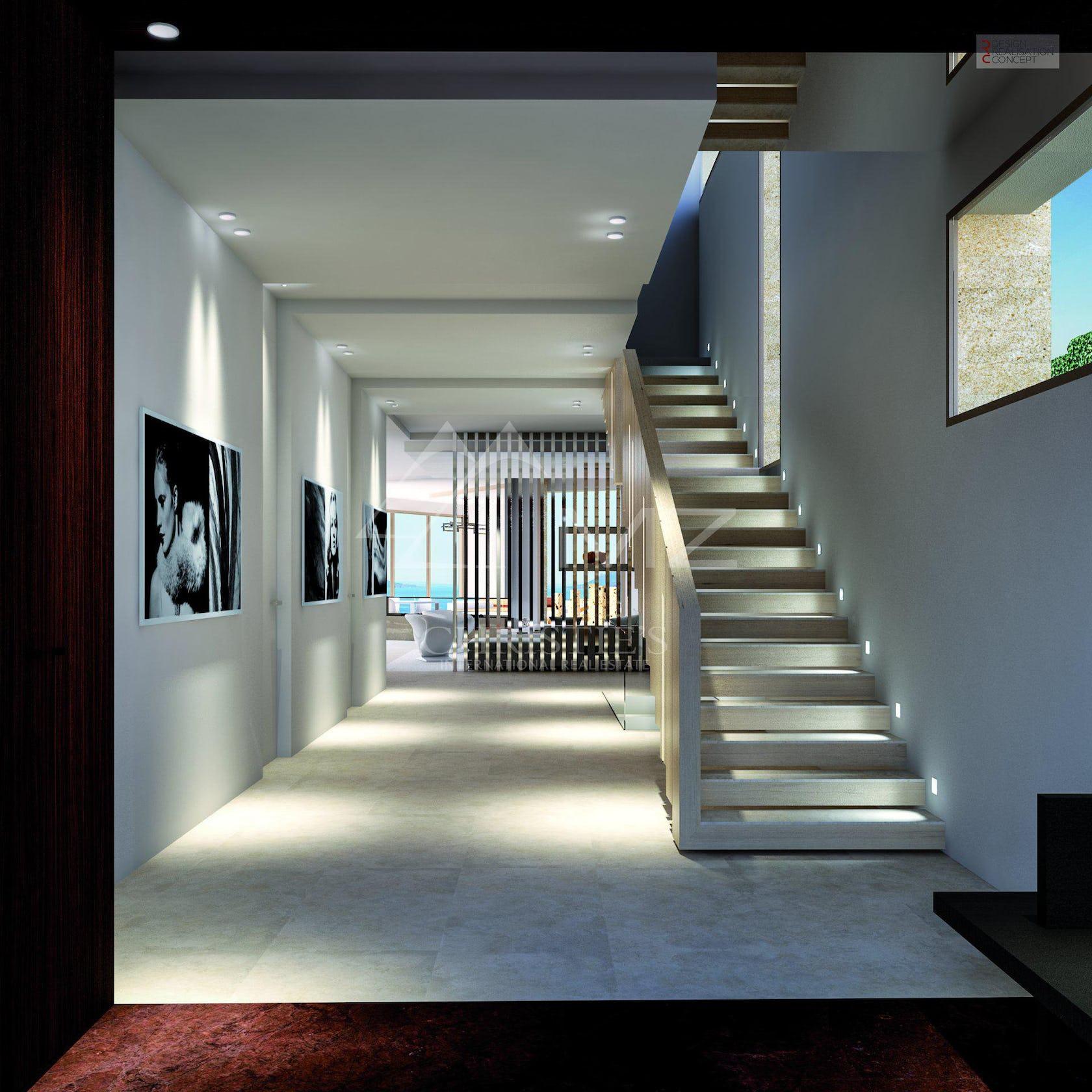 flooring floor corridor staircase interior design indoors