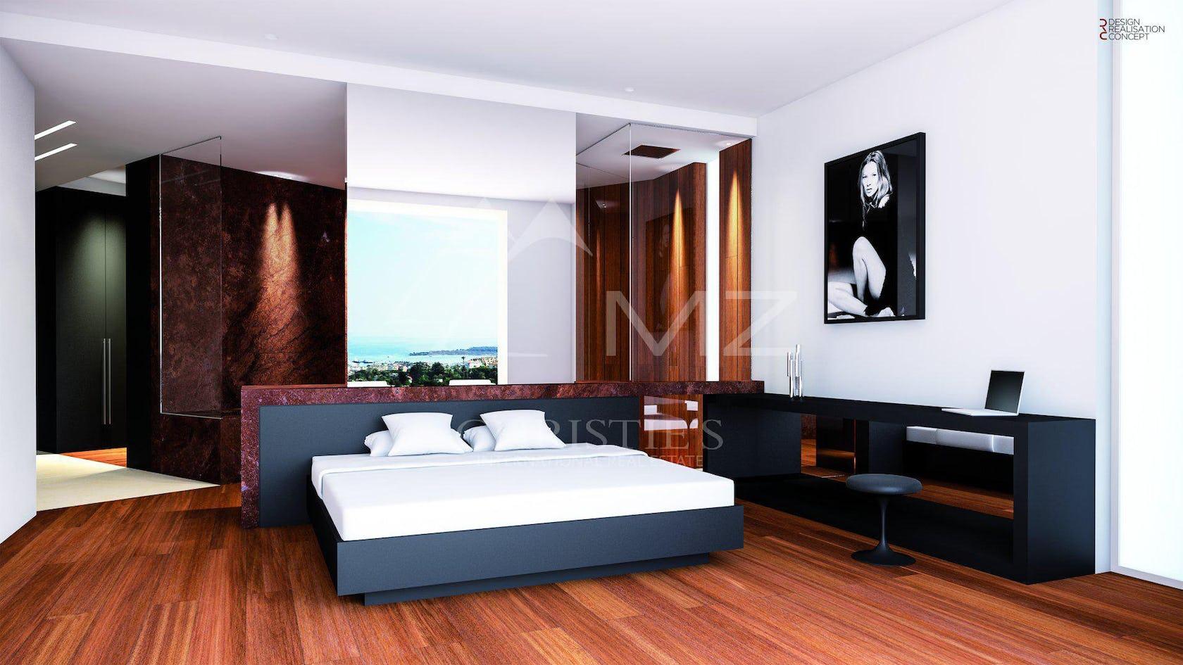 flooring furniture wood hardwood bedroom room indoors floor interior design