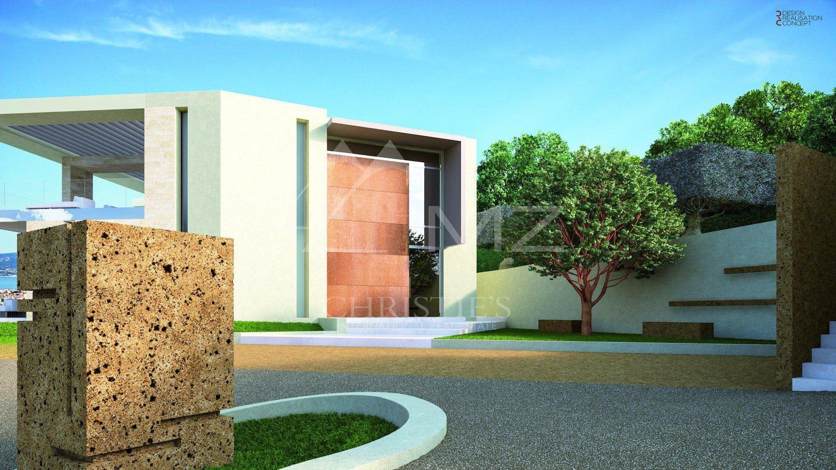 tarmac asphalt grass plant building