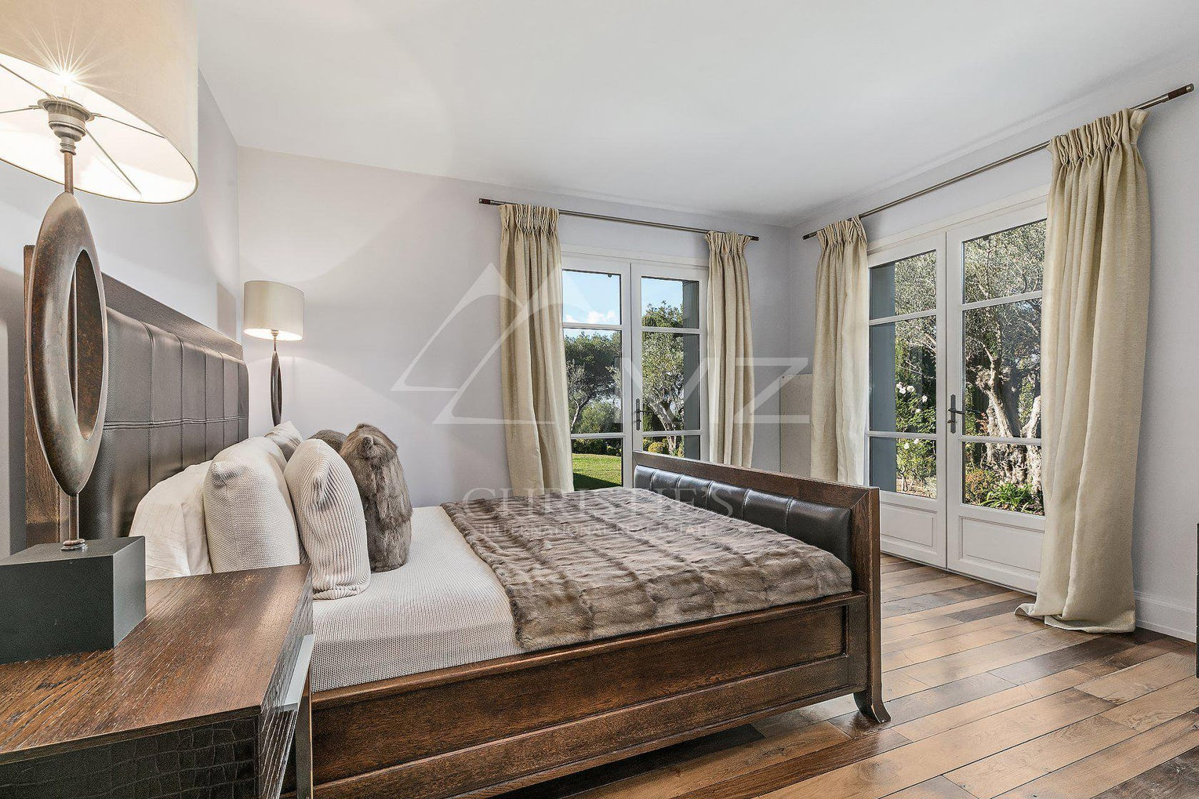 interior design indoors flooring bedroom room furniture floor wood hardwood bed