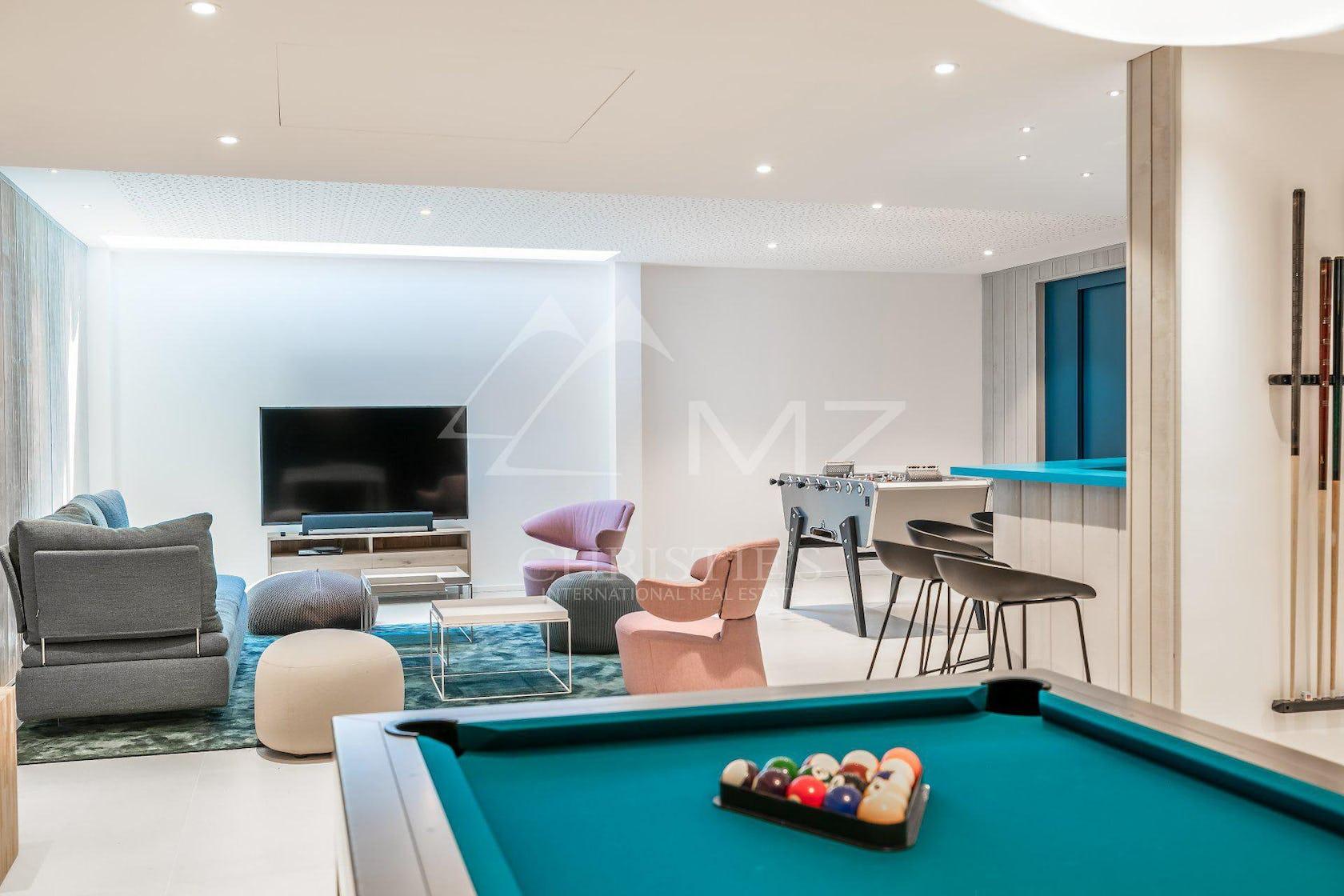 room indoors furniture table billiard room pool table