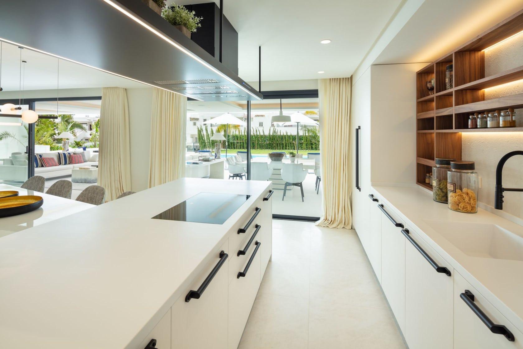 indoors room interior design kitchen