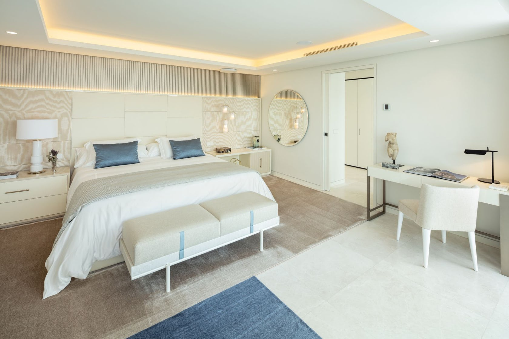 furniture corner bedroom indoors room bed rug