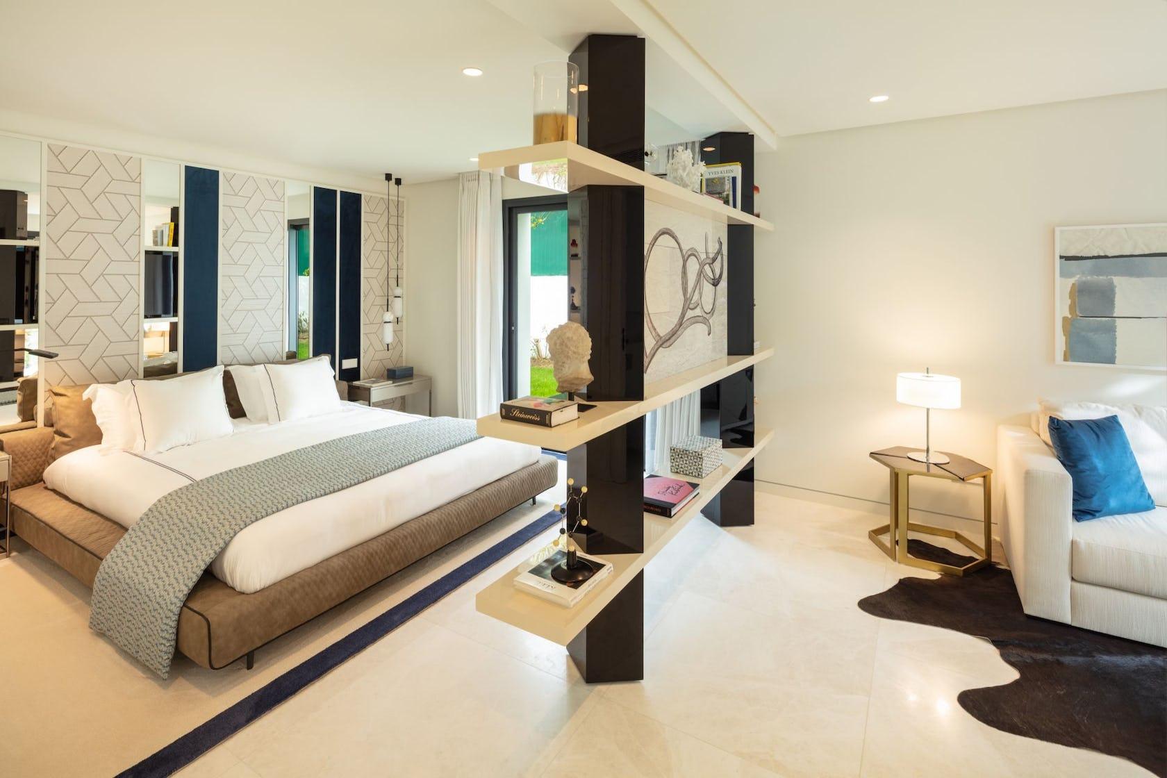 bedroom room indoors furniture interior design flooring corner floor
