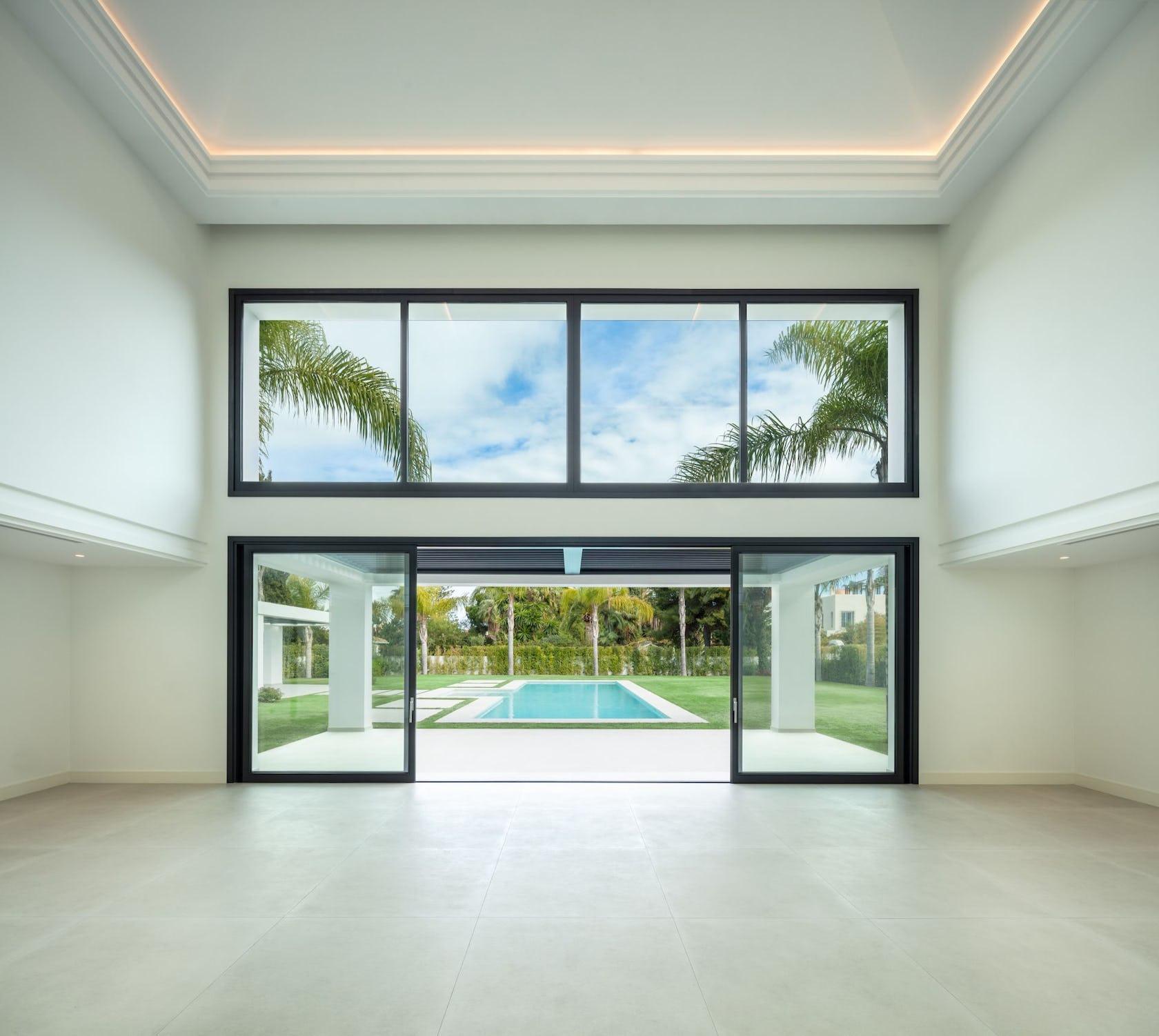 door building housing floor lobby room indoors flooring