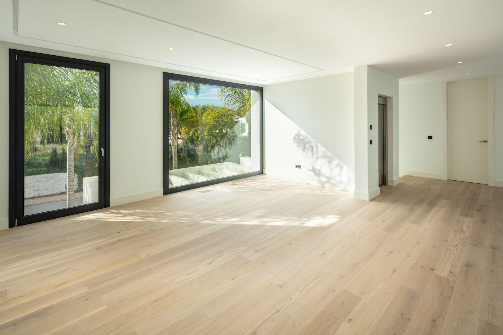 flooring floor wood indoors hardwood housing building
