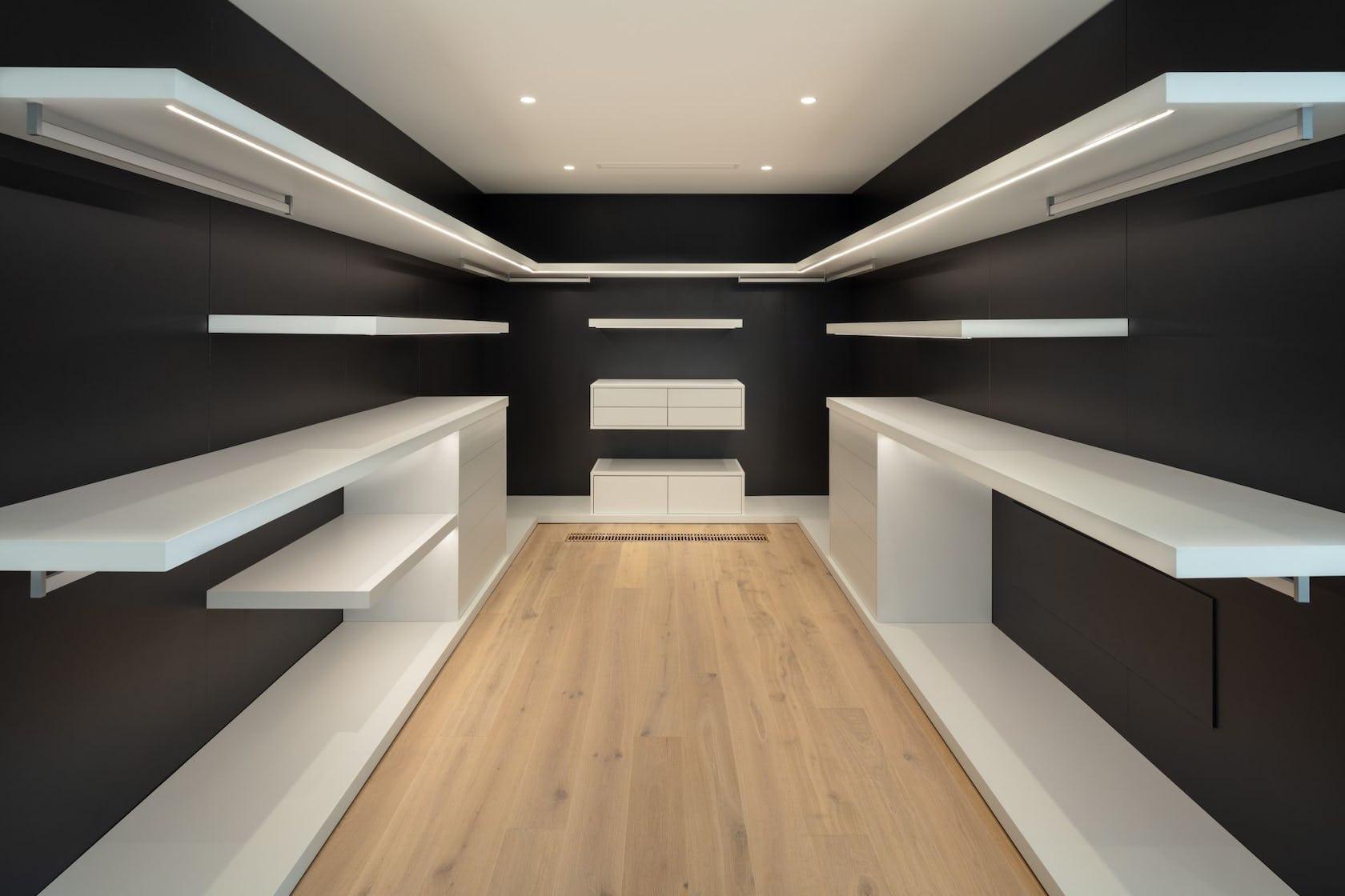 furniture indoors wood walk-in closet shelf interior design