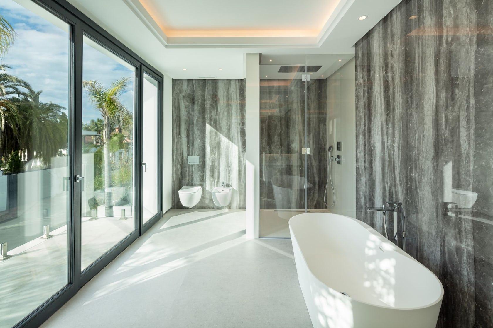 bathtub tub indoors room door