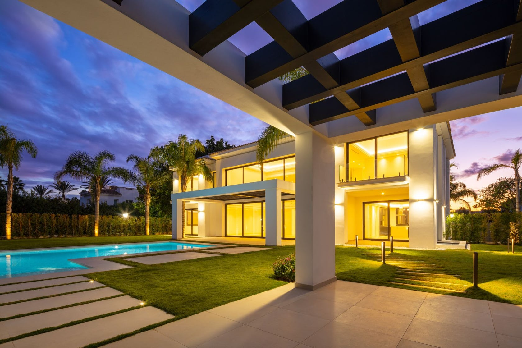 villa building housing house patio hotel