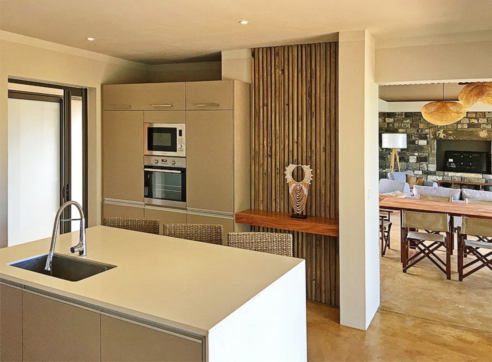 indoors room kitchen wood microwave appliance oven
