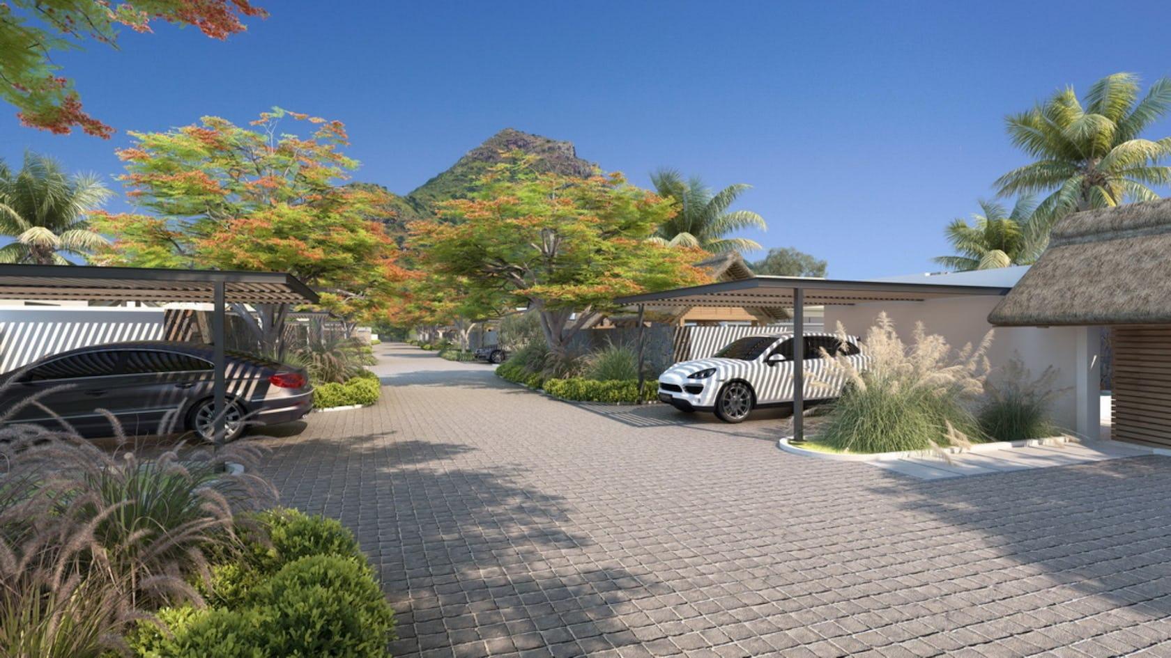 car walkway path outdoors tree plant wheel flagstone garden slate