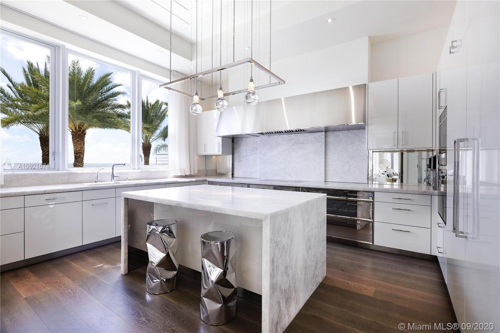 indoors room kitchen interior design flooring kitchen island