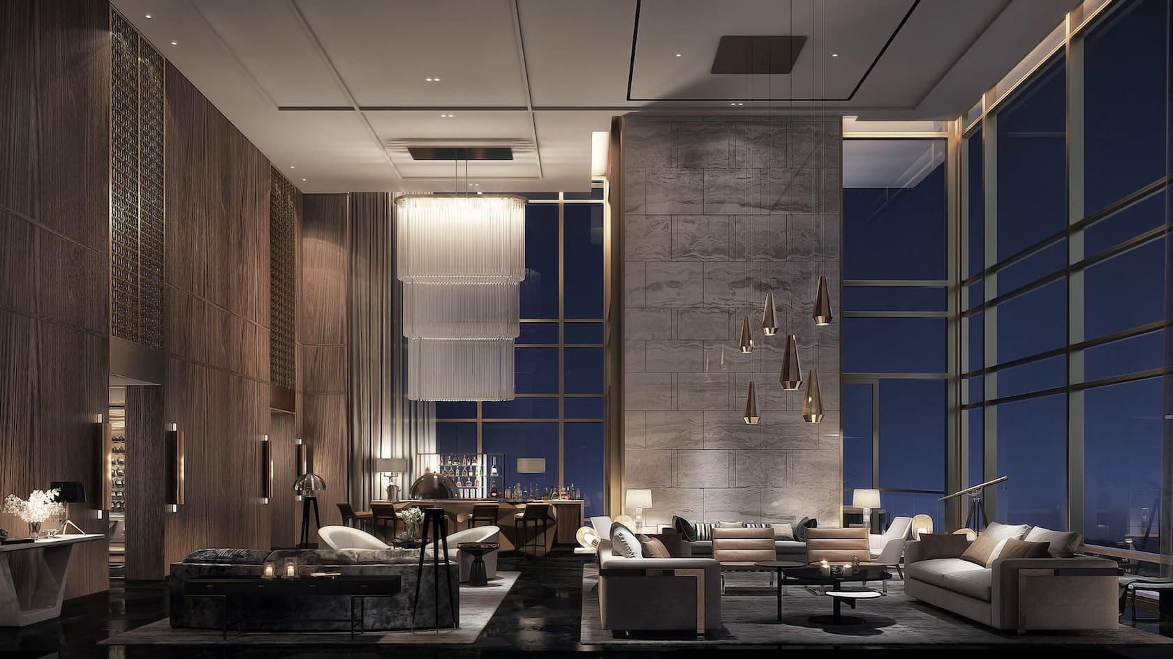 interior design indoors lobby room restaurant
