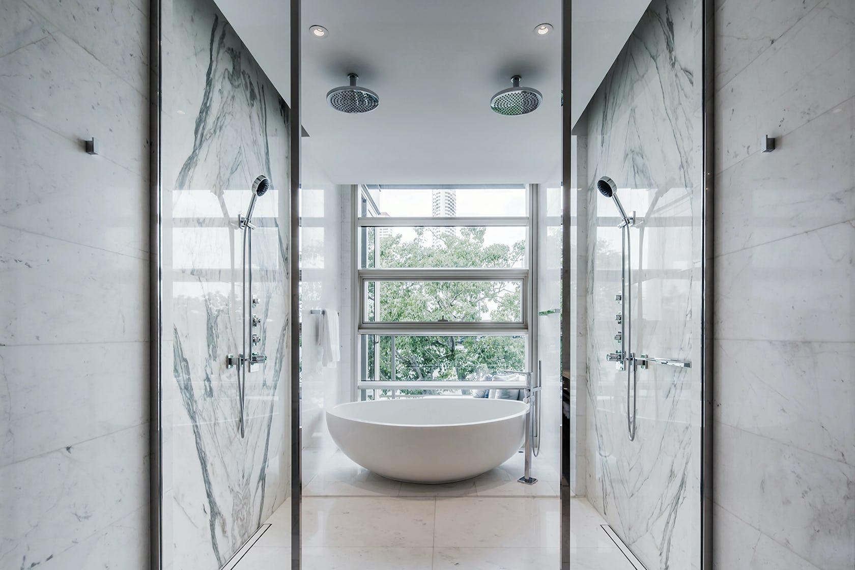 room indoors bathroom bathtub tub shower