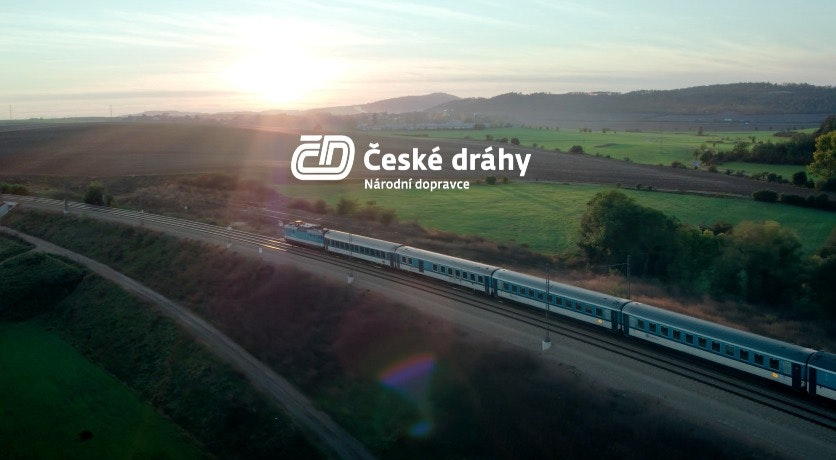 Cover Image for ČESKÉ DRÁHY. vehicle,train,transportation,outdoors,scenery,nature,train track,railway,landscape,panoramic