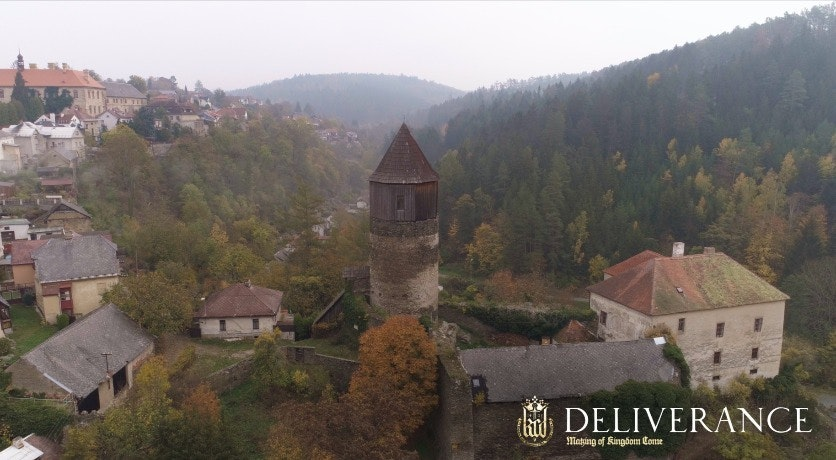 Cover Image for DELIVERANCE : THE MAKING OF KINGDOM COME. spire,building,tower,architecture,nature,roof,monastery,castle,outdoors,scenery