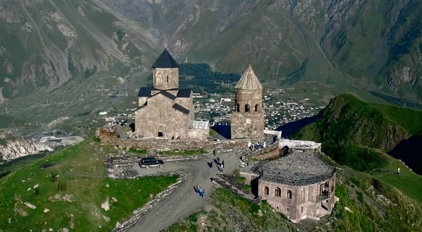 Cover Image for GEORGIA AERIAL. housing,architecture,monastery,building,scenery,nature,outdoors,landscape,tower,spire