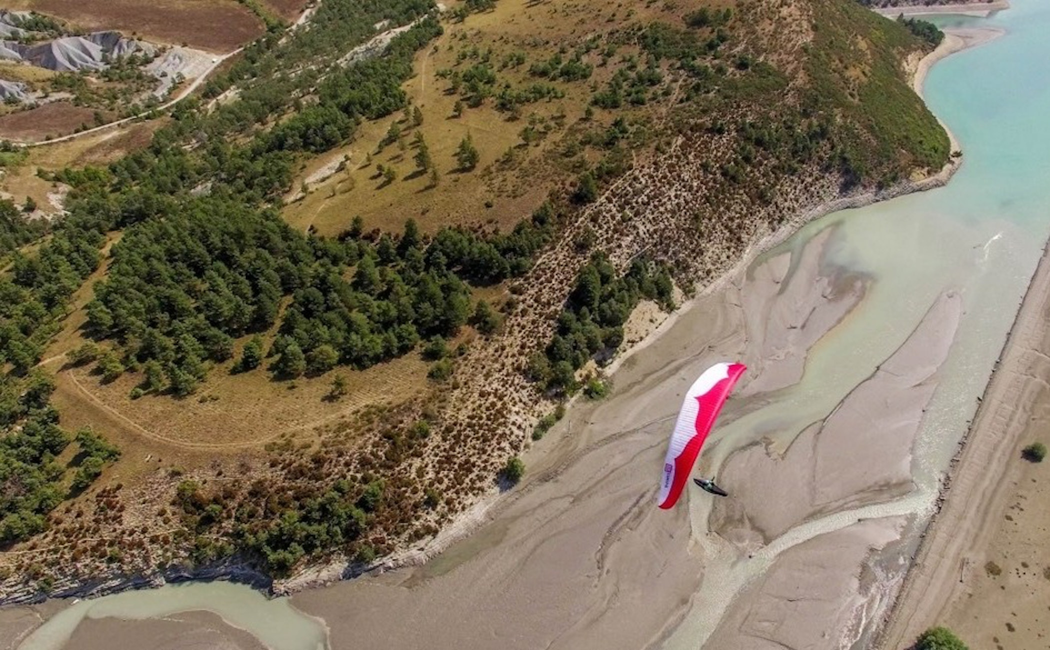 landscape,nature,outdoors,scenery,aerial view,slope,water,soil,wilderness,land