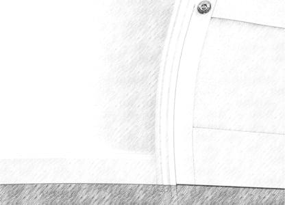 zniekształcone czarno-białe drzwi, podłoga i ściana