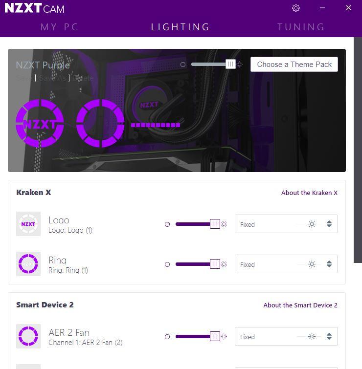 NZXT CAM 4.0 Lighting
