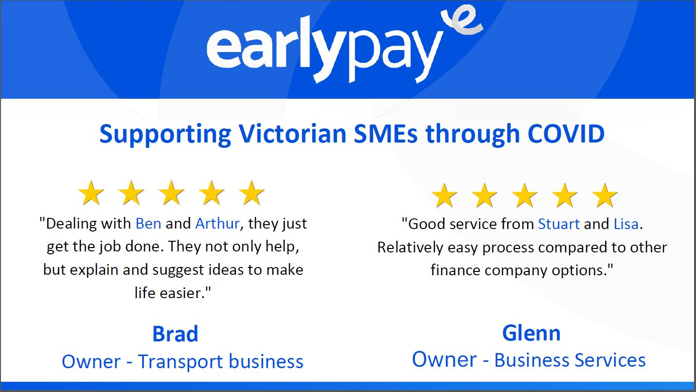 It's official - Earlypay really is supporting Aussie SMEs of all shapes and sizes!