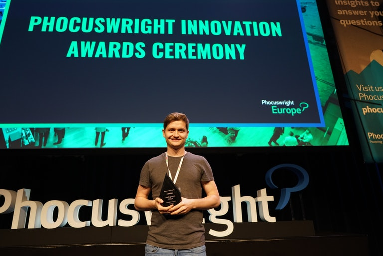 Alex Govoreanu, wins award for Questo at Phocuswright Europe 2019