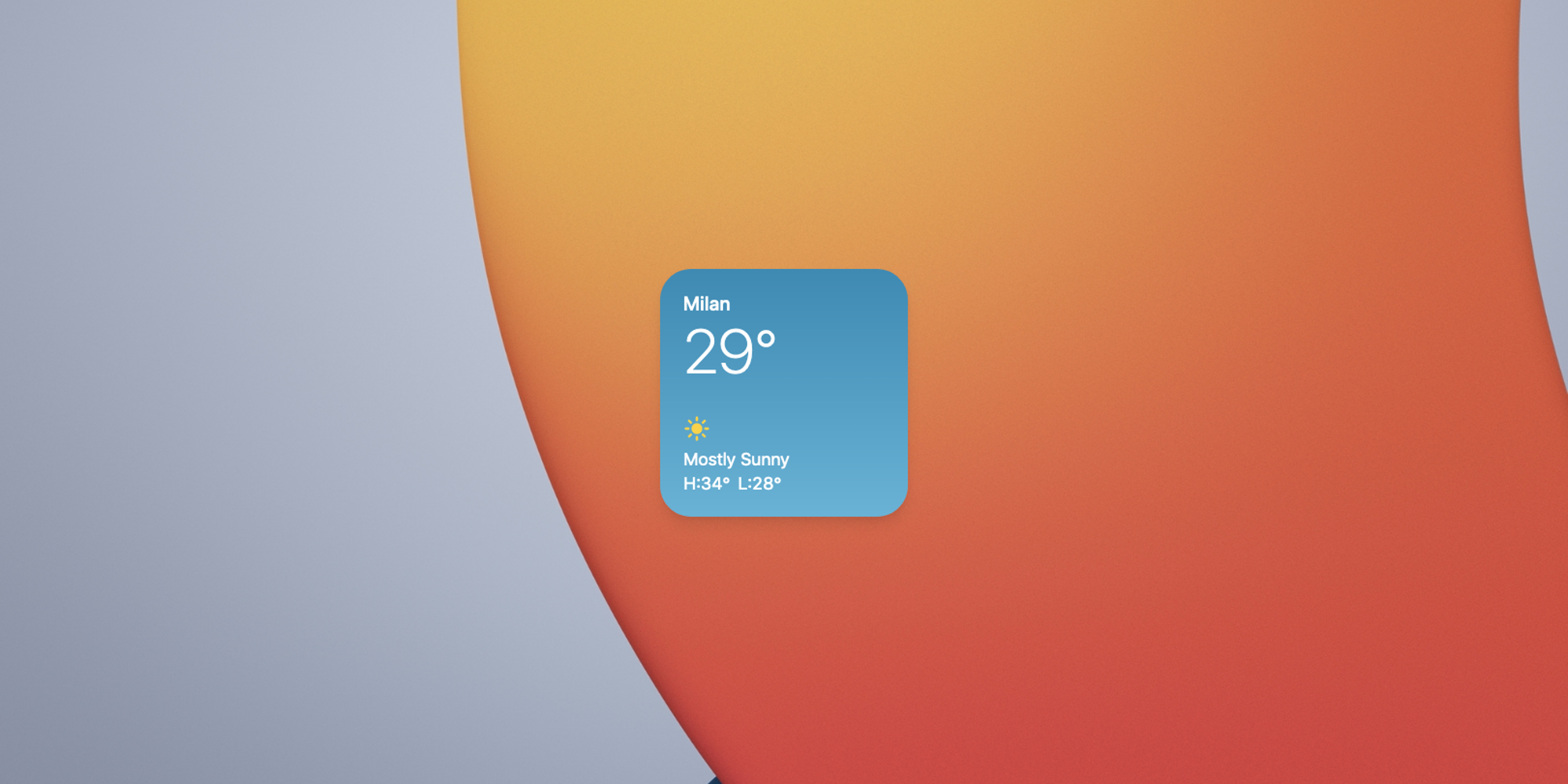 Weather Widget on iOS 14