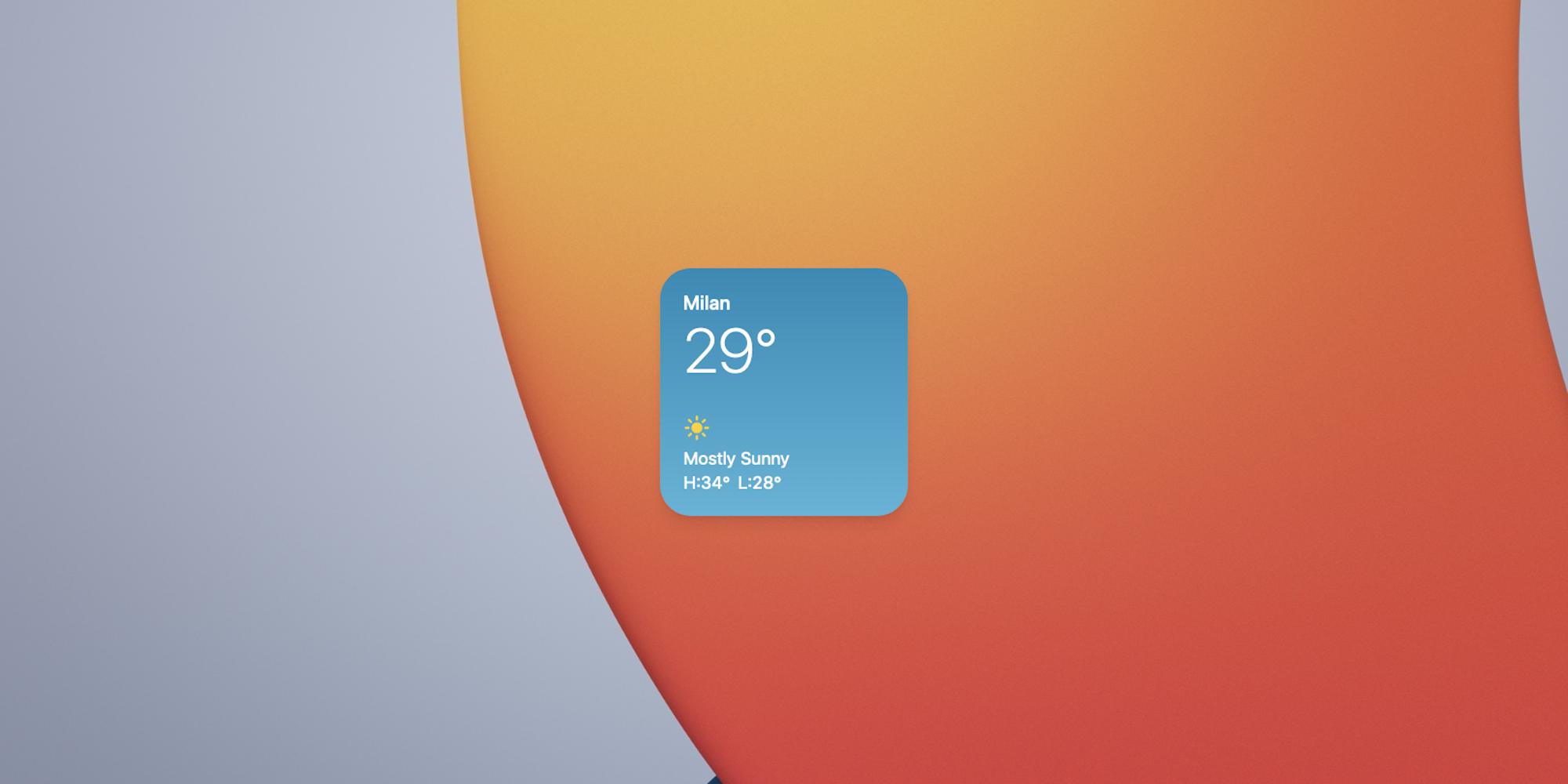 Weather Widget on iOS 14