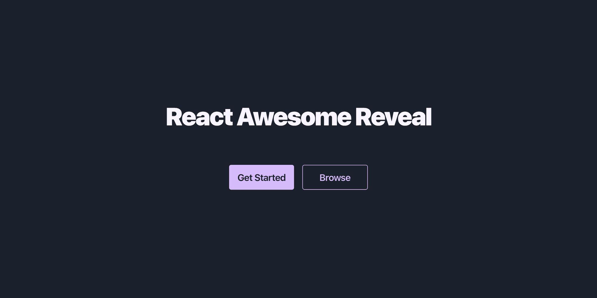 React Awesome Reveal Website Screenshot