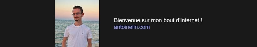 Salut 👋🏻 Je m'appelle Antoine !