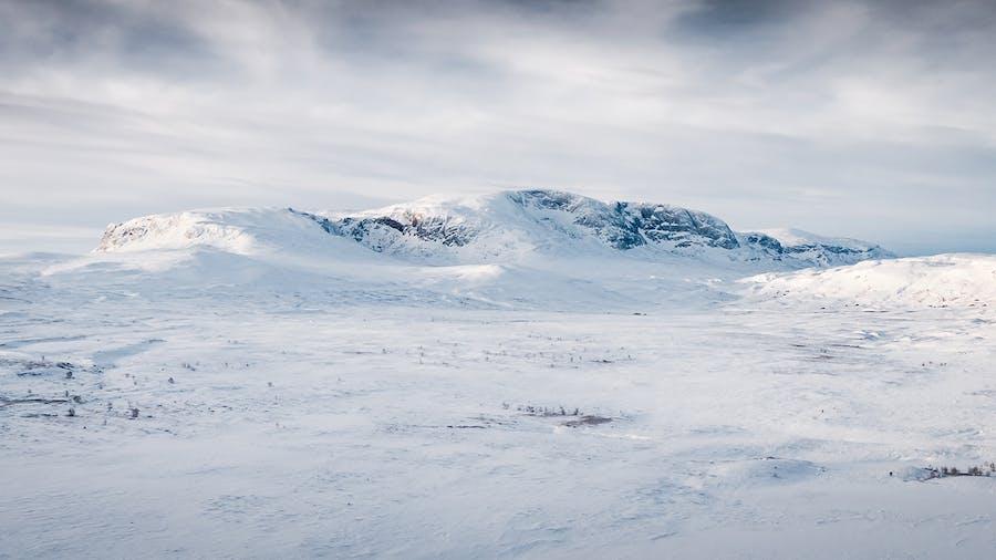 Hallingskarvet på vinteren