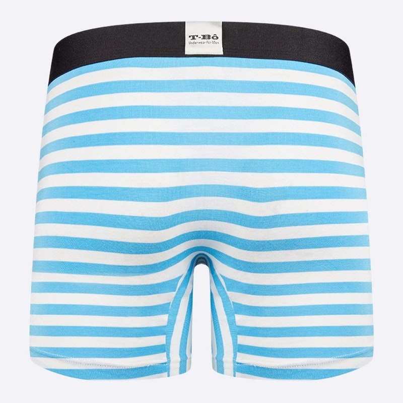 The Limited Edition Ballsy Norse Blue Stripes Boxer Brief for men in the USA and Canada