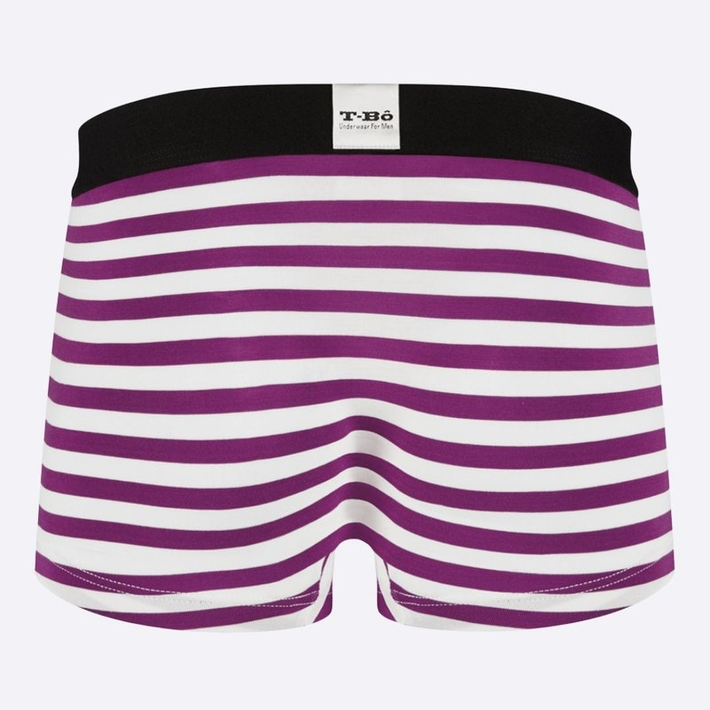The Limited Edition  Ballsy Sparkling Grape Stripes Trunk for men in the USA and Canada