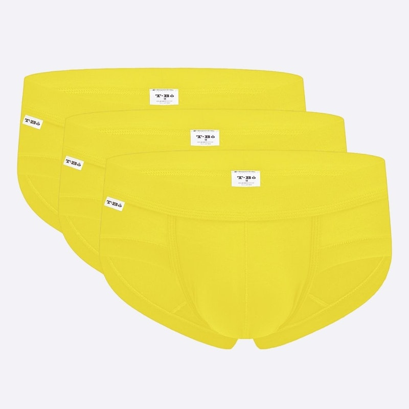 The Carnaval Yellow Brief 3 Pack