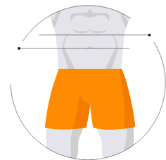 Size Chart for Men's underwear, pants and tees
