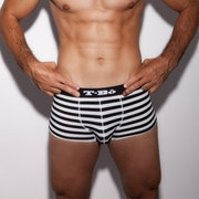 The Ballsy Trunk Model Pirate Black Stripes Front 2