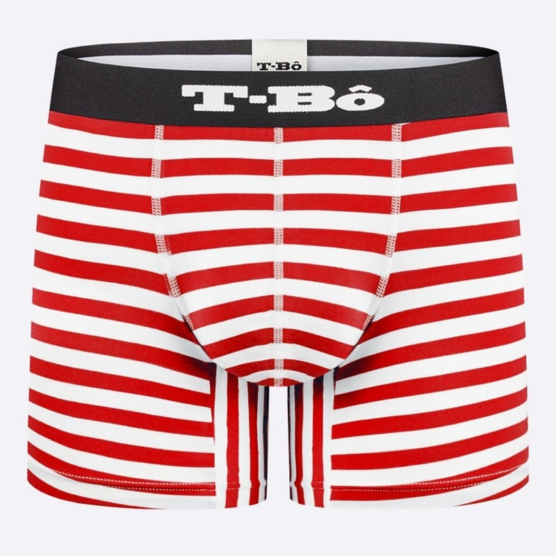 The Limited Edition Ballsy Molten Lava Stripes Boxer Brief for men in the USA and Canada
