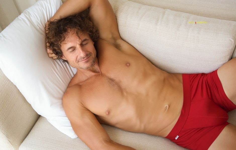 Image a topless model wearing a TBô underwear